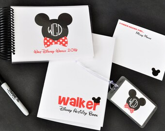 Gift Set Disney World Autograph Book Personalized with Monogram
