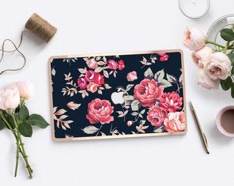 "Platinum Edition Richmond Rose/ Cream Polka with Rose Gold Edge Detailing Hybrid Hard Case for Apple Mac Air & Mac Pro Retina, Macbook 12"""