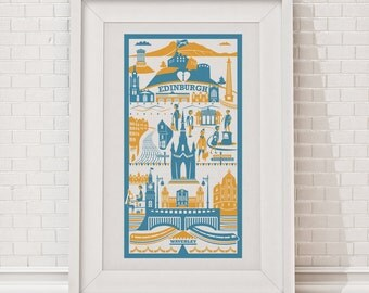 Edinburgh Print / Edinburgh illustration / City illustration / Fine art print