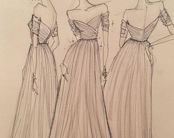 Sold!  Custom Bridal Sketch