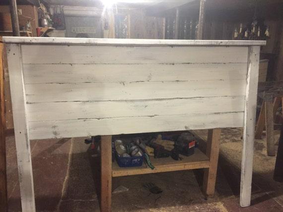 Rustic Headboard White Distressed