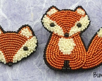 Little Fox Brooch Tutorial - A Bead Embroidery Tutorial