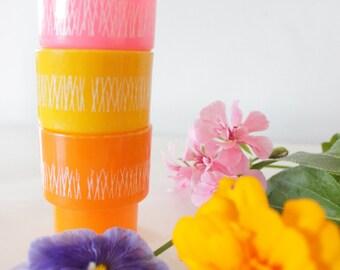 Sorbet Coloured Egg Cups x 3
