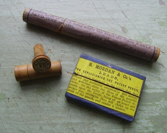 Collectable Antique/Vintage Pencil Lead Cases/Holders - Brand/Advertising - Edwardian.