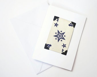 greeting card, vintage playing card art deco, Number 4