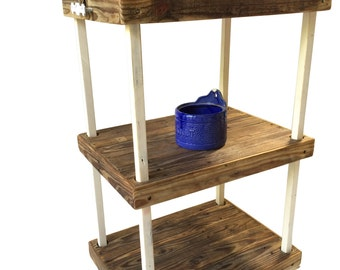 Industrial Rustic Bar or Kitchen Cart - Made to Order