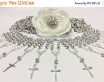 10%off weekend sale 36 pcs Pearl First communion favors Recuerditos Bautizo 36pzs/ Mini Pearl Rosary Baptism Favors 36 pcs