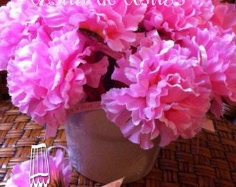 Flower Pen baby shower favors-Pink or Blue Flower Pens (5 in a set)