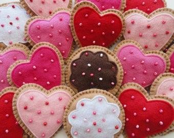 Ginger Cookie Valentine Ornaments-Valentine Ornament-Valentine Cookies-Valentine Decorations-Valentine's Day Decorations-Valentine's Day