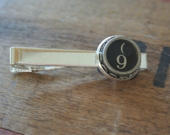 Typewriter #9 Tie Clip, Great Gift for Him,Stainless Repurposed Type Writer Keys,Authentic, Cuff Links also available By UPcycled Works