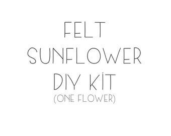 Felt Sunflower DIY kit - As seen on Periscope