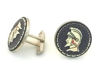Roman Head Cuff Links, Gladiator head cufflinks