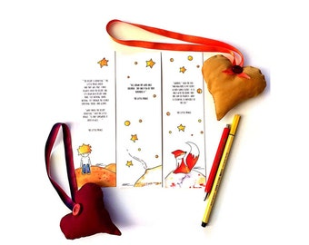3 bookmarks set, The Little Prince