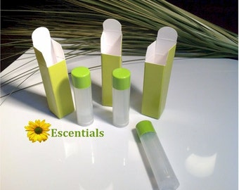 Lime Green Lip Balm Tube Box - 100 Pack