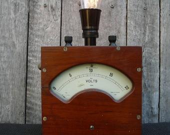 Vintage Industrial Meter Light