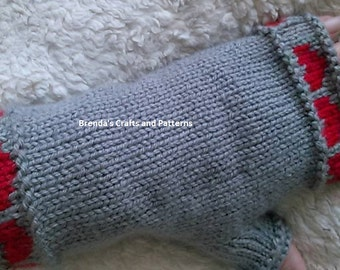 Heart Fingerless Gloves/knitted