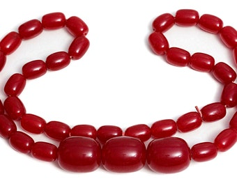 Cherry Amber Necklace Bakelite Beads long Jewelry huge Necklaces Stone Jewellery 60s Vintage Bead Shop Big Amber genuine Graduated Jewelers