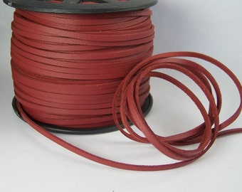 Burgundy Faux Leather Cord 20 Feet USA Seller