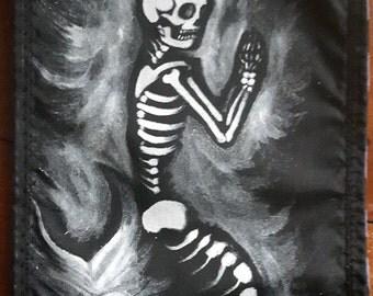 Skeleton Mermaid Patch