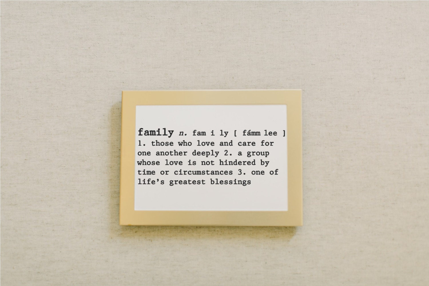 Calligraphy Print Family Definition By Pcbhome On Etsy