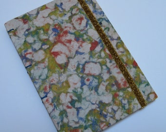 Handmade Journal - Abstract Flowers - Tetured - Lined Pages - Unique