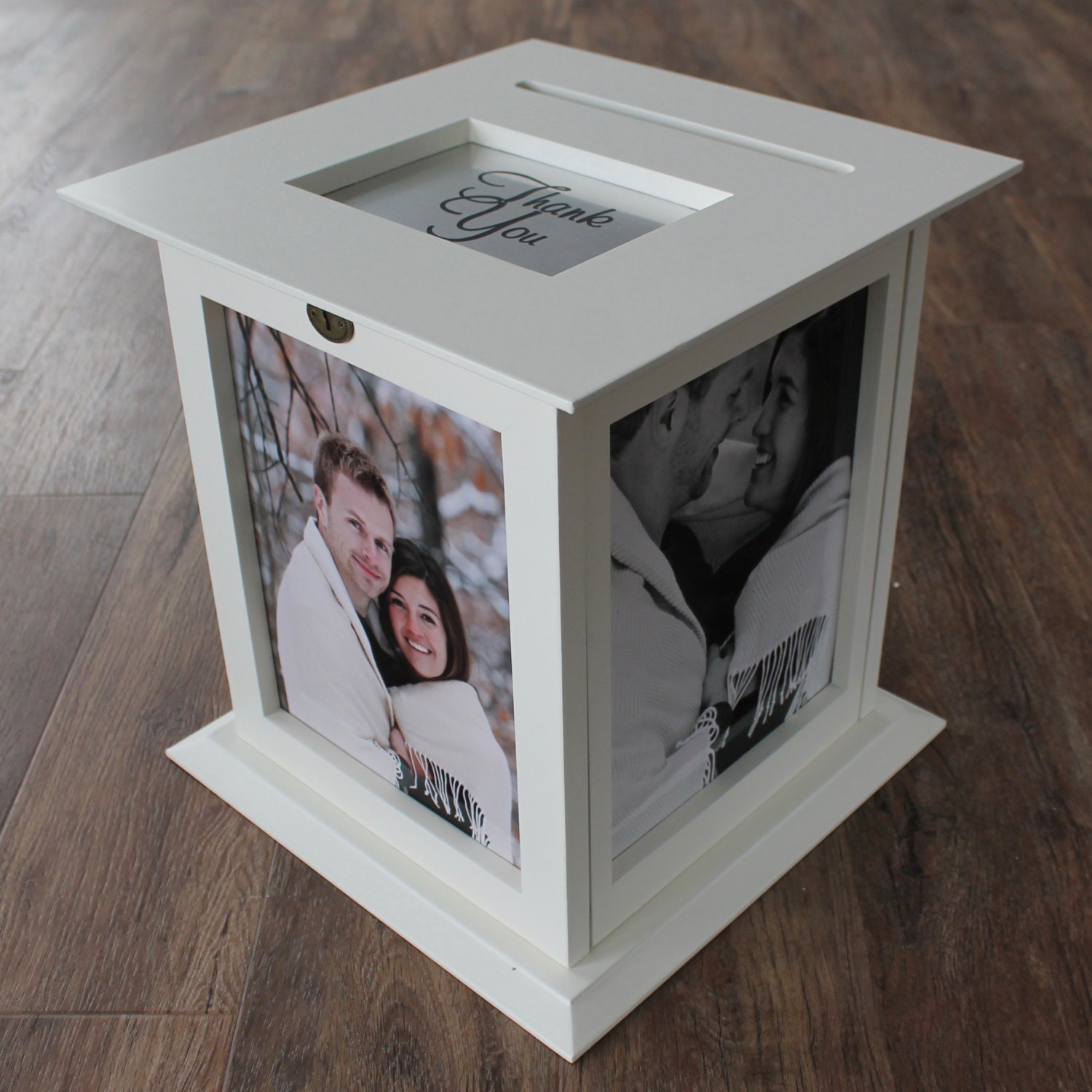 Rotating Wedding Card Box holds photos of by KellyMarieCollection – Wedding Photo Card Box