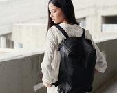 Sale 15% Off Black Leather Backpack, Women Backpack, Leather School Backpack, College Bag, Travel Backpack, Rucksuck