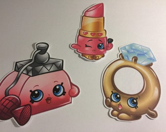 Shopkins Set of 3 Die Cuts