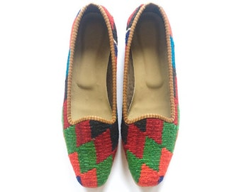 Kilim shoes. US Size 11 (EU size 41)