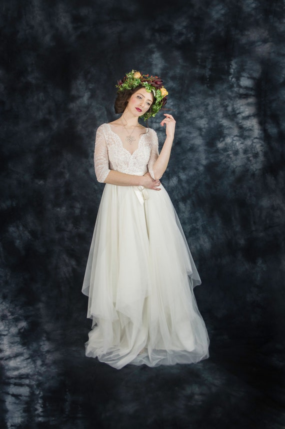 Short Flowey Beach Wedding Dresses