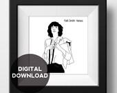 Patti Smith - Horses  - Album Cover Poster - Graphic Illustration - Digital Download
