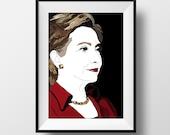 Hillary Clinton Poster - Graphic Illustration A4 - Art Print