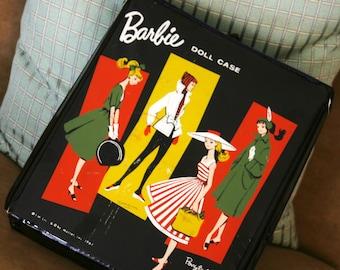 Vintage Collectible 1961 Black Barbie Doll Case Ponytail