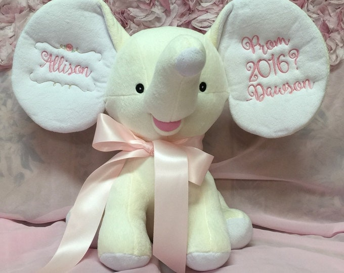 Prom Proposal Embroidered Stuffed Animal/Special Occasion Personalized Stuffed Animal/Cubbies/Confirm Color By Message Prior To Order