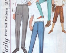 Simplicity 1960s trousers, vintage sewing pattern 5694 - boys trousers pattern - Size 4 Waist 21 inches