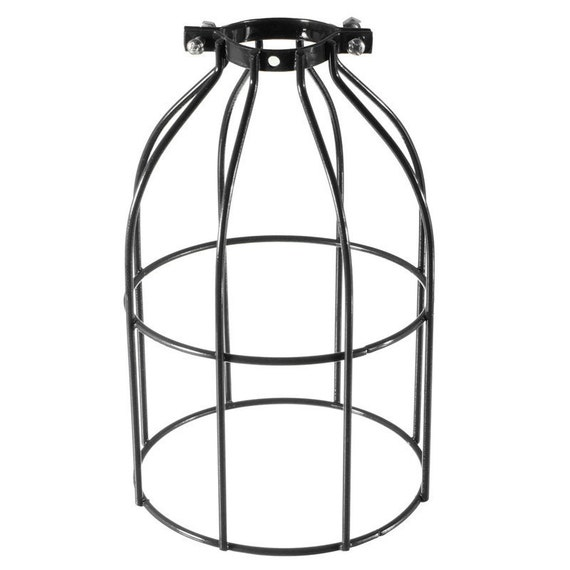 industrial metal wire cage frame lampshade for use with