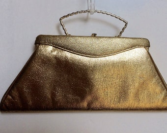 Vintage gold evening handbag/purse 50's/ 60's