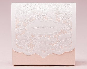 Blush Wedding Favor Boxes - Always and Forever on Front - Package of 10