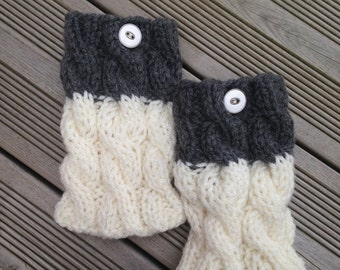Boot Cuffs Knit Boot Cuffs Leg Warmers Boot Toppers Knit Boot Socks READY TO SHIP