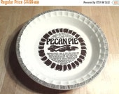 On Sale Royal China by Jeanette Corporation Pecan Pie Plate Vintage Kitchen with Recipe