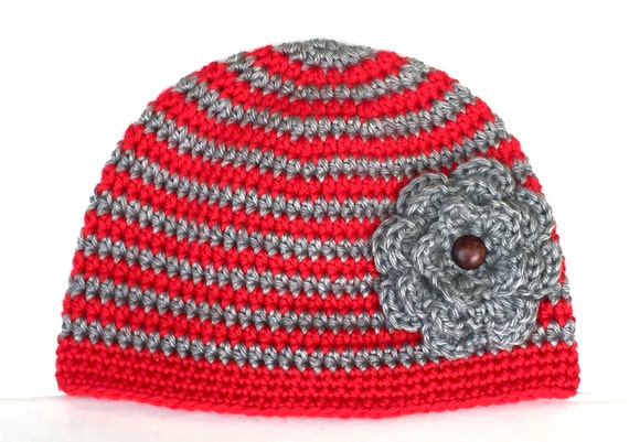 Items Similar To Ohio State Beanie With Flower Osu Hat