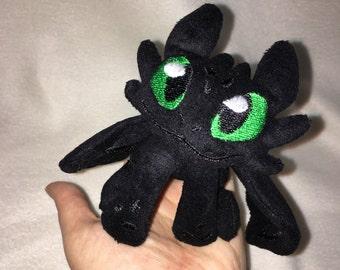 Tiny Dragon Plushie Black