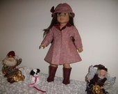 """American made Doll Clothes, Winter Coat, Hat and Boots fits most modern 18"""" dolls"""