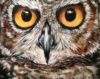Owl Painting, Owl Art