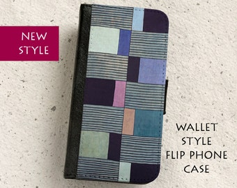 iPhone Case (all models) - Abstract African Textile - Wallet style flip case -  Samsung Galaxy S4,S5,S6,S7Edge,S8,S8Plus & more