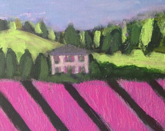 Somewhere in Provence,  original signed painting