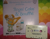 Strawberry Shortcake Vintage Book and Tape Set Angel Cake and Souffle Skunk ADORABLE