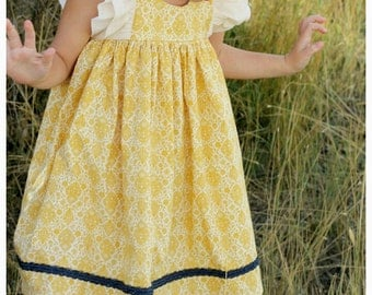 Toddler Yellow Dress - Girls Dress for Special Occasion - Baby girl Birthday Dress - Little girl Dress - Toddler girl Dress -Baby Girl Dress
