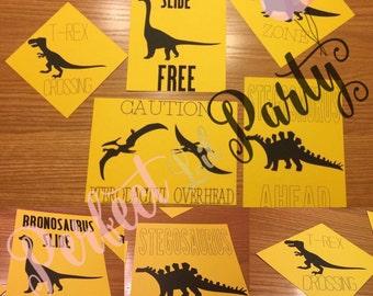 Dinosaur Signs, Dinosaur Party Decorations, Dinosaur Birthday Party