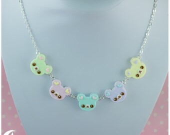 Rainbow bears Necklace